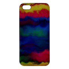 Watercolour Color Background Apple Iphone 5 Premium Hardshell Case
