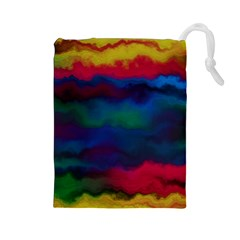 Watercolour Color Background Drawstring Pouches (large)  by BangZart