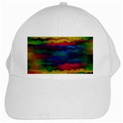Watercolour Color Background White Cap