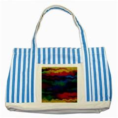 Watercolour Color Background Striped Blue Tote Bag