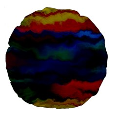 Watercolour Color Background Large 18  Premium Flano Round Cushions