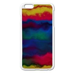 Watercolour Color Background Apple Iphone 6 Plus/6s Plus Enamel White Case