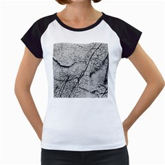 Abstract Background Texture Grey Women s Cap Sleeve T