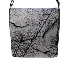 Abstract Background Texture Grey Flap Messenger Bag (l)  by BangZart
