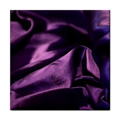 Shiny Purple Silk Royalty Tile Coasters