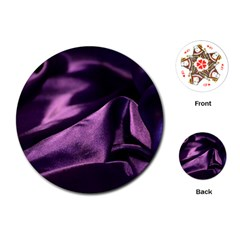 Shiny Purple Silk Royalty Playing Cards (round)  by BangZart