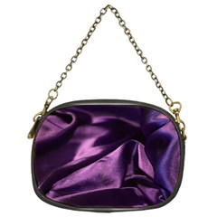 Shiny Purple Silk Royalty Chain Purses (two Sides)