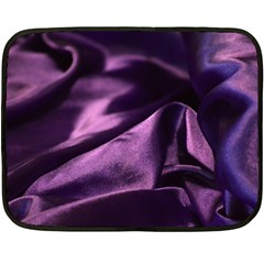 Shiny Purple Silk Royalty Fleece Blanket (mini)
