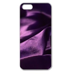 Shiny Purple Silk Royalty Apple Seamless Iphone 5 Case (clear)