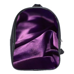 Shiny Purple Silk Royalty School Bag (xl) by BangZart