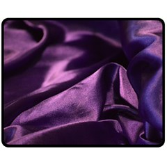 Shiny Purple Silk Royalty Double Sided Fleece Blanket (medium)
