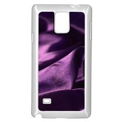Shiny Purple Silk Royalty Samsung Galaxy Note 4 Case (white)