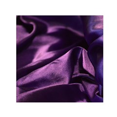 Shiny Purple Silk Royalty Small Satin Scarf (square)