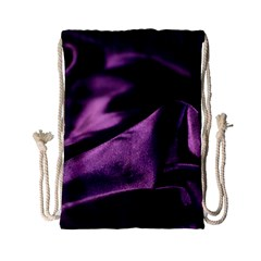 Shiny Purple Silk Royalty Drawstring Bag (small)
