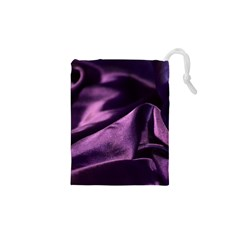 Shiny Purple Silk Royalty Drawstring Pouches (xs)