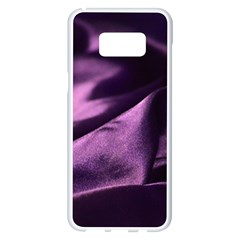 Shiny Purple Silk Royalty Samsung Galaxy S8 Plus White Seamless Case