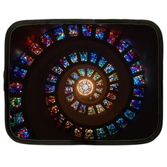 Stained Glass Spiral Circle Pattern Netbook Case (large)