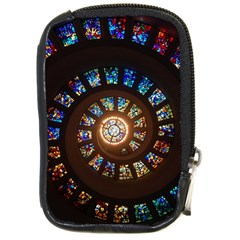 Stained Glass Spiral Circle Pattern Compact Camera Cases by BangZart