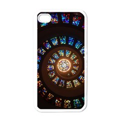 Stained Glass Spiral Circle Pattern Apple Iphone 4 Case (white) by BangZart