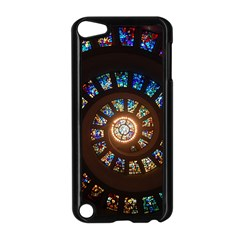 Stained Glass Spiral Circle Pattern Apple Ipod Touch 5 Case (black) by BangZart