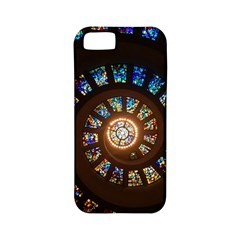 Stained Glass Spiral Circle Pattern Apple Iphone 5 Classic Hardshell Case (pc+silicone)