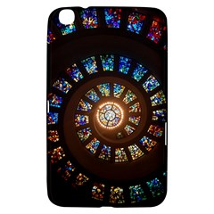 Stained Glass Spiral Circle Pattern Samsung Galaxy Tab 3 (8 ) T3100 Hardshell Case
