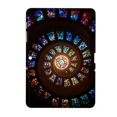 Stained Glass Spiral Circle Pattern Samsung Galaxy Tab 2 (10 1 ) P5100 Hardshell Case  by BangZart