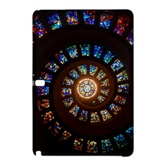 Stained Glass Spiral Circle Pattern Samsung Galaxy Tab Pro 12 2 Hardshell Case by BangZart