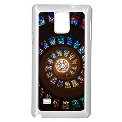 Stained Glass Spiral Circle Pattern Samsung Galaxy Note 4 Case (white)