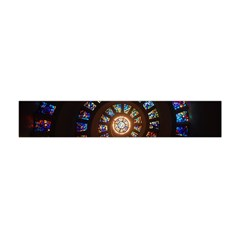 Stained Glass Spiral Circle Pattern Flano Scarf (mini)