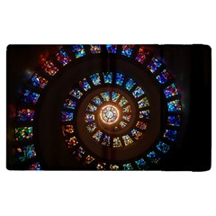 Stained Glass Spiral Circle Pattern Apple Ipad Pro 12 9   Flip Case