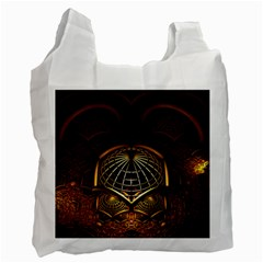 Fractal 3d Render Design Backdrop Recycle Bag (two Side)