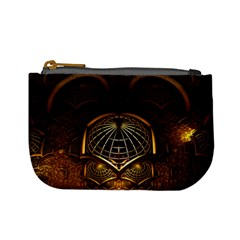 Fractal 3d Render Design Backdrop Mini Coin Purses