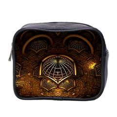 Fractal 3d Render Design Backdrop Mini Toiletries Bag 2 Side