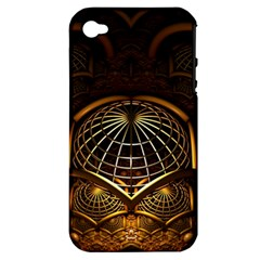 Fractal 3d Render Design Backdrop Apple Iphone 4/4s Hardshell Case (pc+silicone)