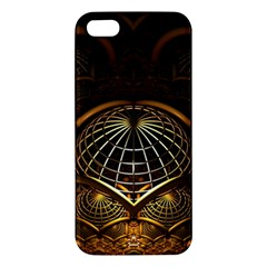 Fractal 3d Render Design Backdrop Apple Iphone 5 Premium Hardshell Case