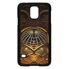 Fractal 3d Render Design Backdrop Samsung Galaxy S5 Case (black)