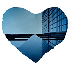 Architecture Modern Building Facade Large 19  Premium Heart Shape Cushions