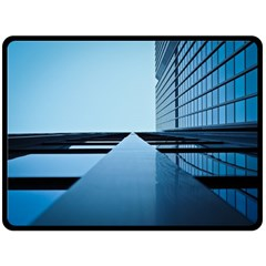 Architecture Modern Building Facade Double Sided Fleece Blanket (large)  by BangZart