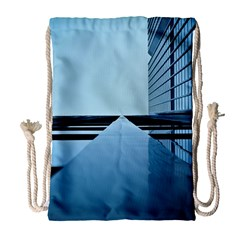 Architecture Modern Building Facade Drawstring Bag (large)