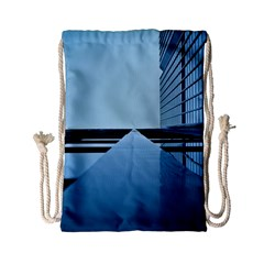 Architecture Modern Building Facade Drawstring Bag (small)