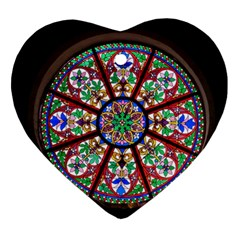 Church Window Window Rosette Ornament (heart)