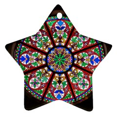 Church Window Window Rosette Ornament (star)