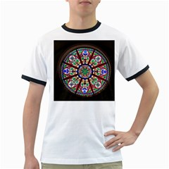 Church Window Window Rosette Ringer T Shirts