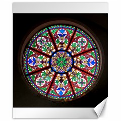 Church Window Window Rosette Canvas 16  X 20