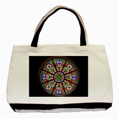 Church Window Window Rosette Basic Tote Bag (two Sides)
