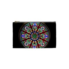 Church Window Window Rosette Cosmetic Bag (small)