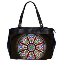 Church Window Window Rosette Office Handbags (2 Sides)