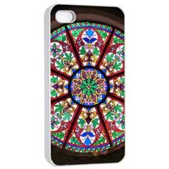 Church Window Window Rosette Apple Iphone 4/4s Seamless Case (white)