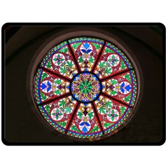Church Window Window Rosette Double Sided Fleece Blanket (large)  by BangZart